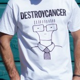 Destroy Cancer - Milo Goes to a Non-profit shirt detail