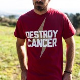 Destroy Cancer - Gold Rush shirt detail
