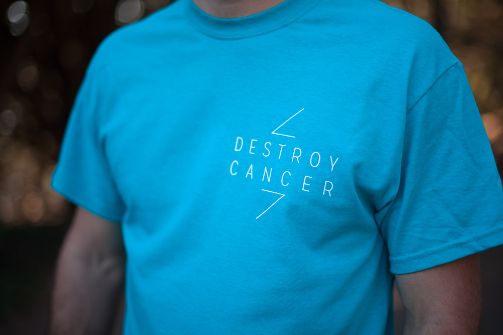 Destroy Cancer - The Icon shirt detail