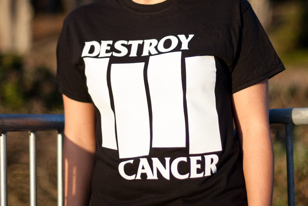Destroy Cancer - Rise Above shirt detail